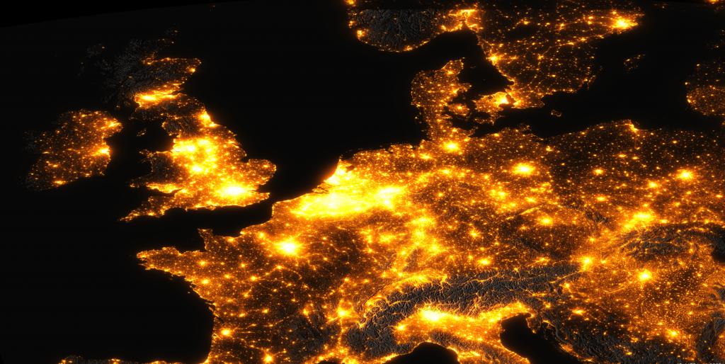 lichtvervuiling Europa