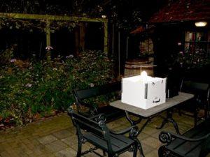 Een lichtval die wordt gebruikt in het Meetnet Nachtvlinders (Bron: Kars Veling)
